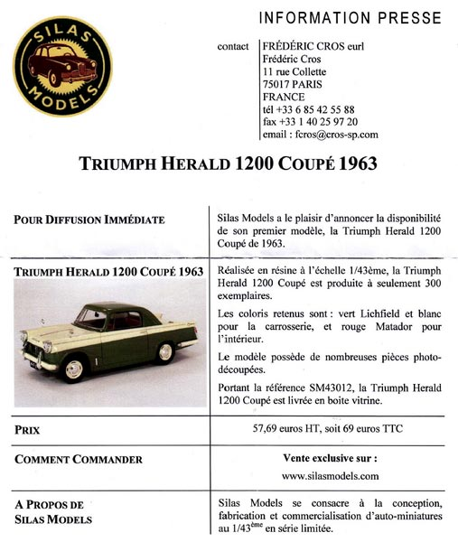 Triumph Herald 1200 Article