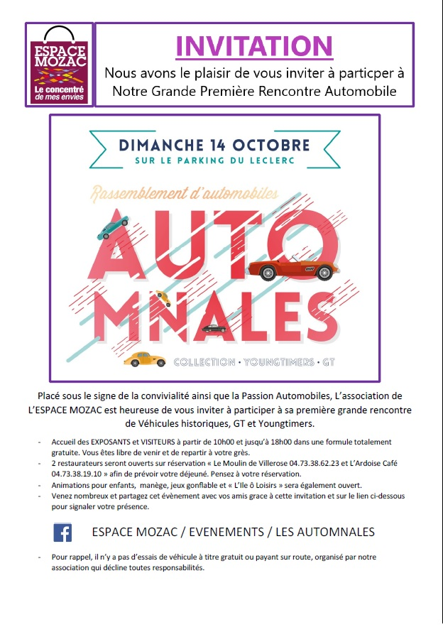 2018 10 Automnales Mozac Invitation