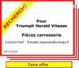 Recherche pour Triumph Herald Vitesse
