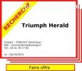 Recherche Triumph Herald